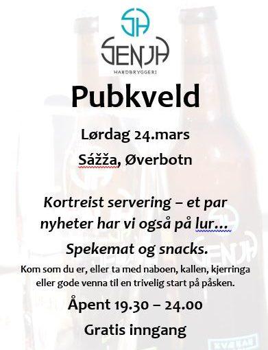 Pubkveld og åpen bryggeributikk